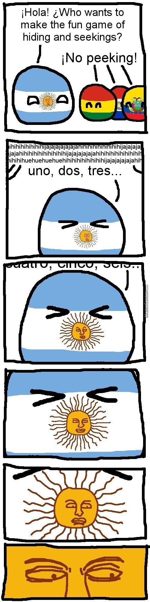 ¿¡ No Peeking?!. . Mela! g, Who wants to make the fun game of hiding and seakings? f peeking!. it looks like a black guy Polandball argentina funny