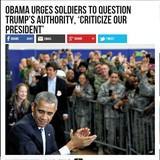 Obama Urges Soldiers to Challenge Trump