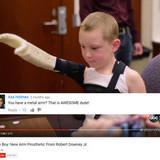 RDJ visiting disabled boy