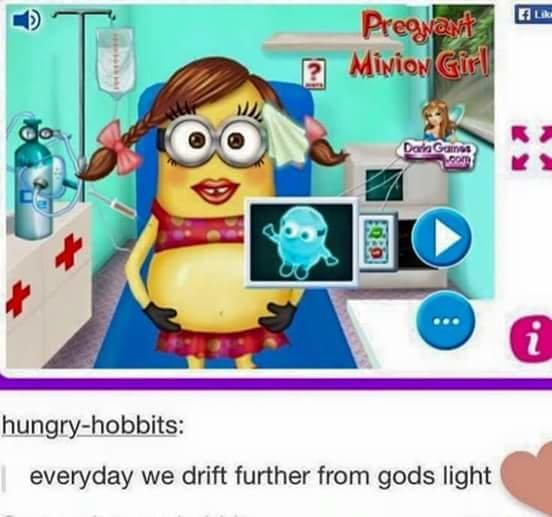 God's Light. . everyday we drift further from gods light minions Scary cringe